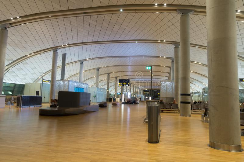 Interior of department terminal, Gardermoen Airport, Oslo, Norway stock photo