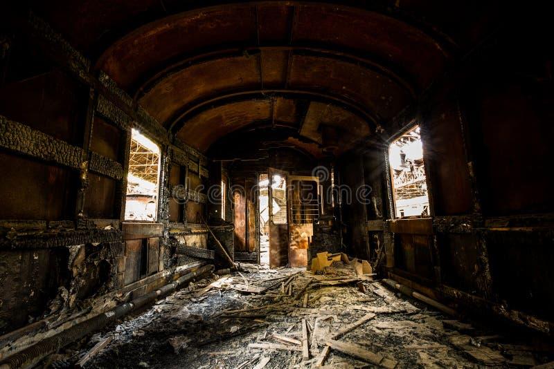 Interior desarrumado do veículo imagens de stock royalty free