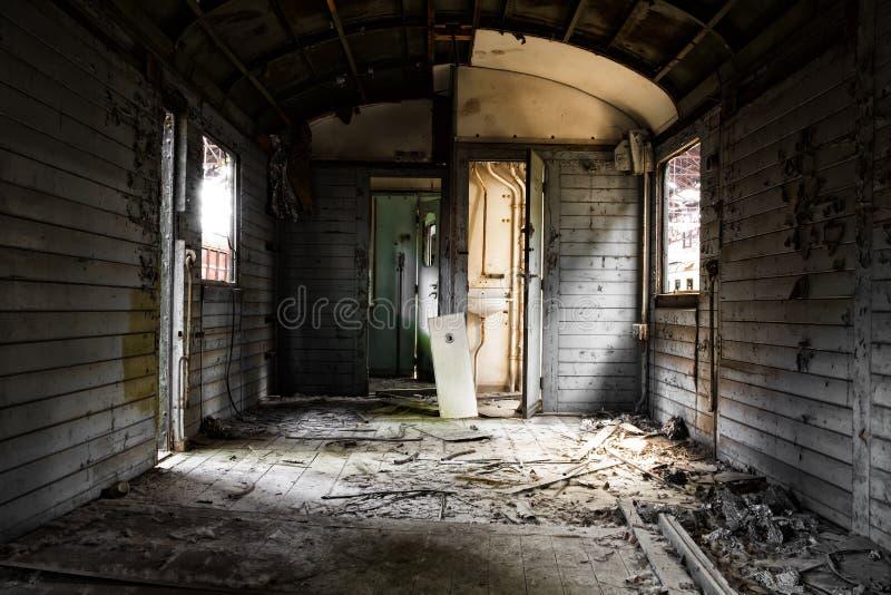Interior desarrumado do veículo fotos de stock