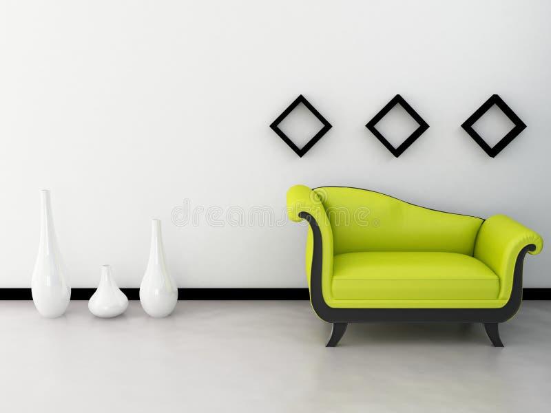 Interior design. An interior design and concept with nice sofa vector illustration
