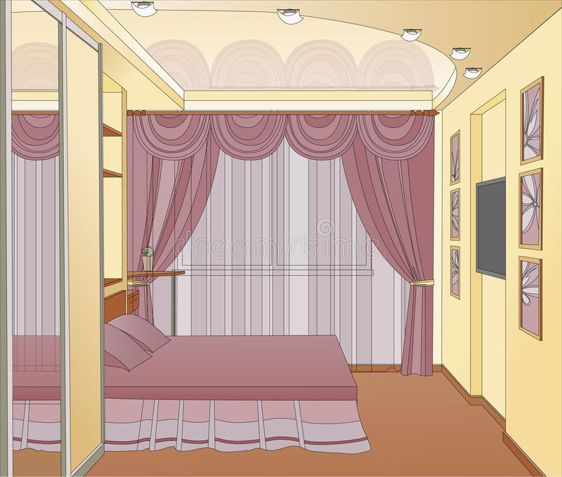 Download Interior design stock vector. Illustration of decoration - 22310663