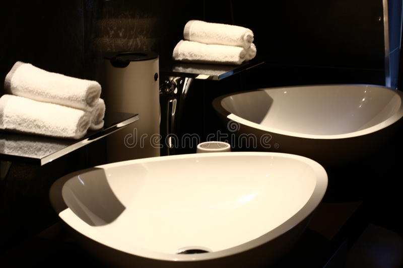 Interior design of a bathroom royalty free stock images