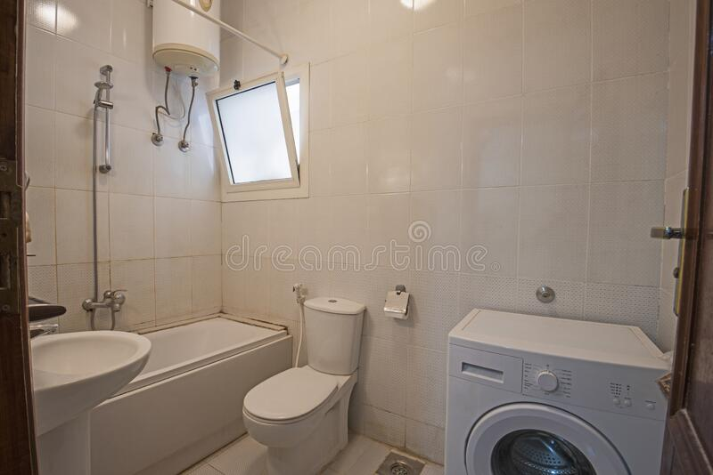 Interior design of bathroom in luxury apartment royalty free stock image