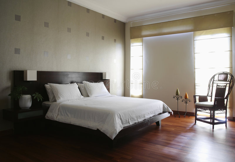 Interior design - bedroom royalty free stock photography