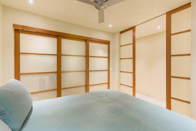 Interior design, Big modern bedroom stock image