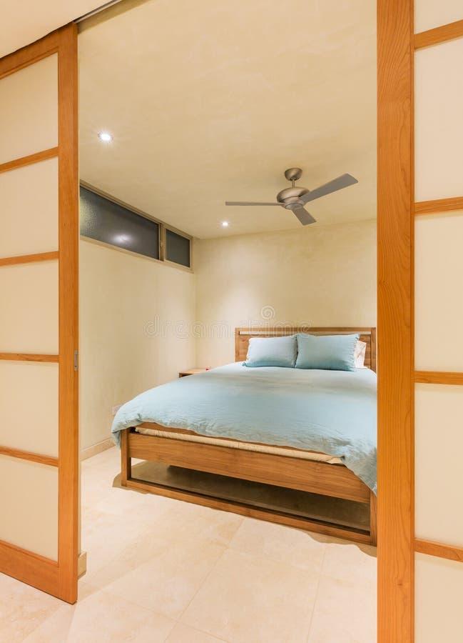 Interior design, Big modern bedroom stock images