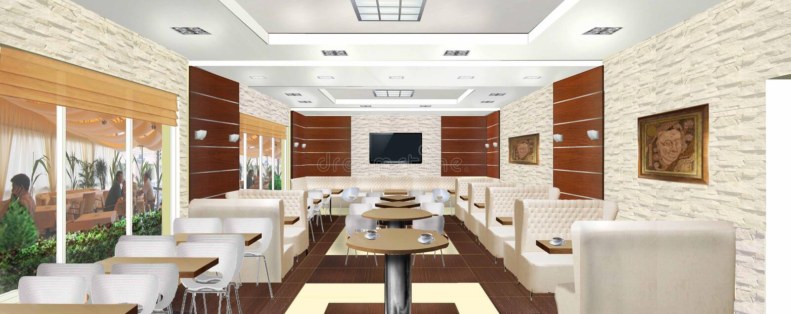 Interior Design Project Furniture Styles ~ Interior design of a cafe or restaurant stock