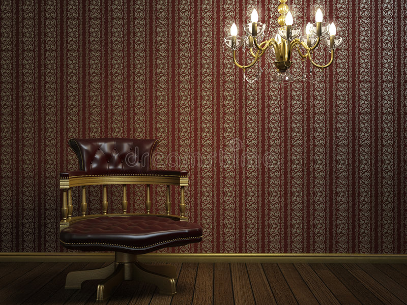 Interior design of classic armchair royalty free stock image