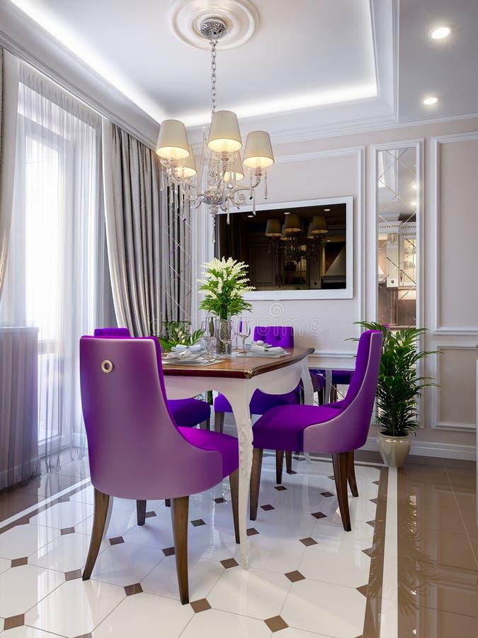 Interior Design Classico Moderno Elegante Della Cucina Illustrazione ...