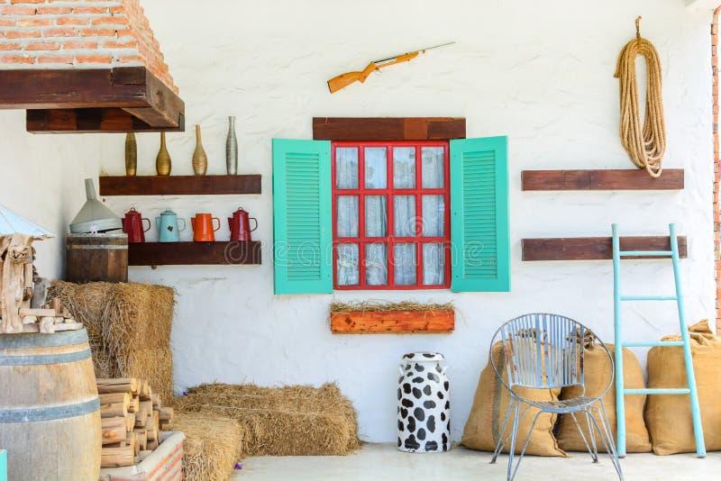 Interior design della casa di campagna immagine stock for Caratteristiche di design della casa
