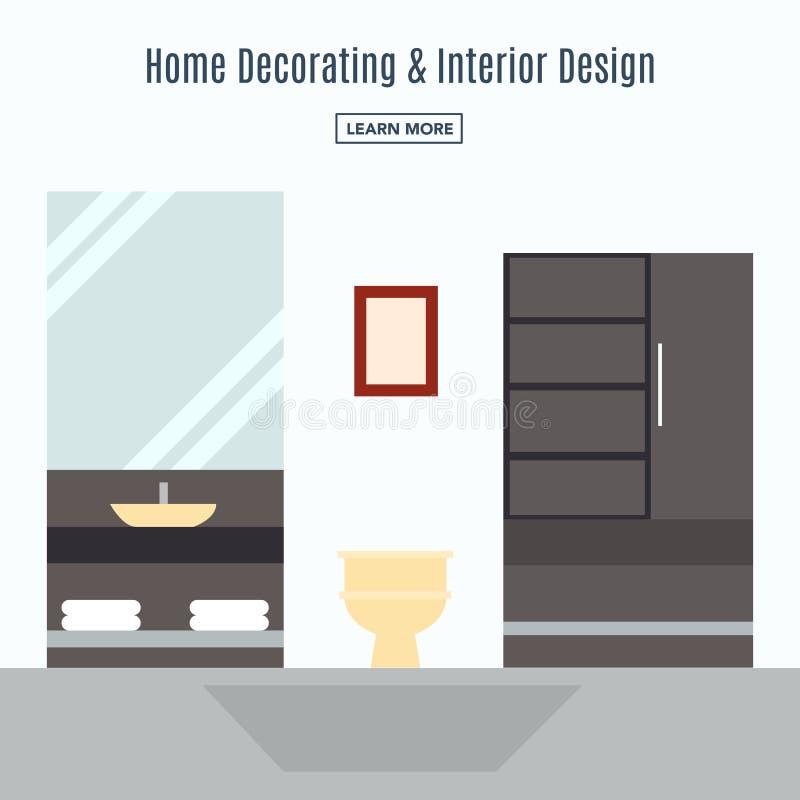 Interior design di un salone illustrazione di stock
