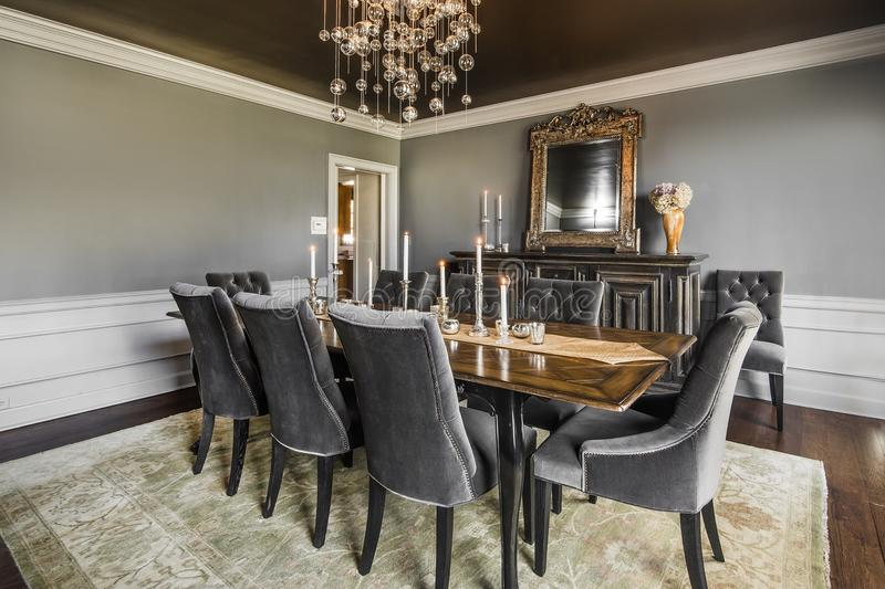 Dining Room luxury. Interior design dream home dining room royalty free stock photography