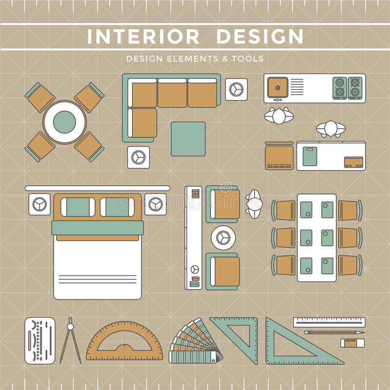 Download Interior Design Layout U0026 Tools Stock Vector   Illustration Of  Indoor, Element: 53472952