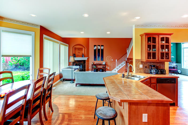 Interior Design. Great Kitchen, Dining And Living Room ...