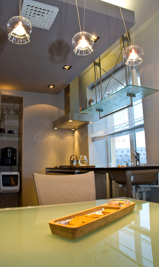 Interior design of home stock images