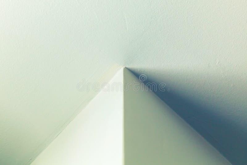 Interior design with illuminated corner. Abstract architecture background, interior design with illuminated corner stock image