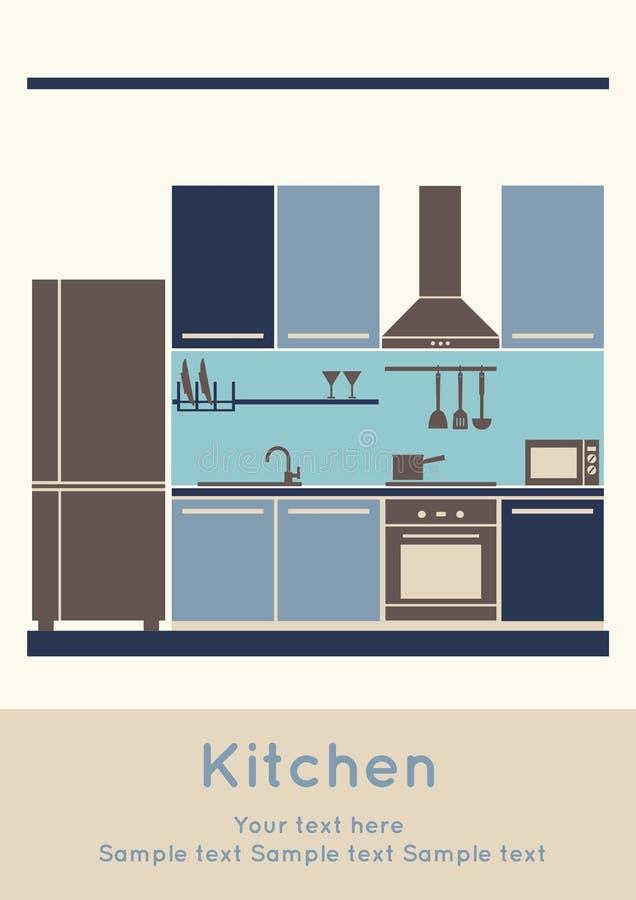 Interior design, kitchen royalty free stock photography