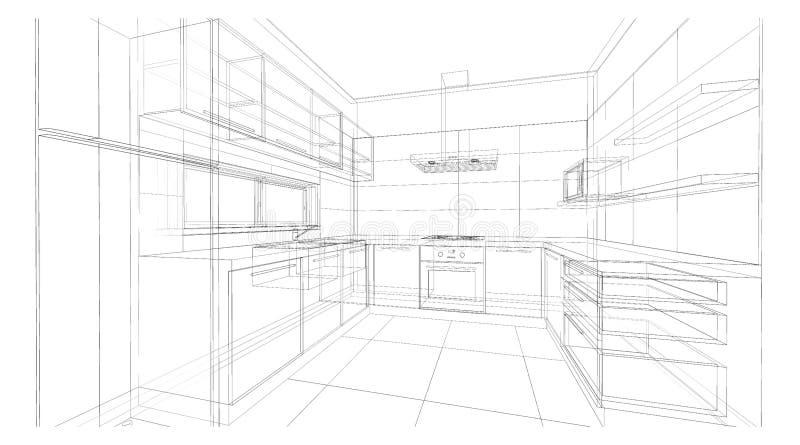 Interior design : kitchen royalty free stock photos