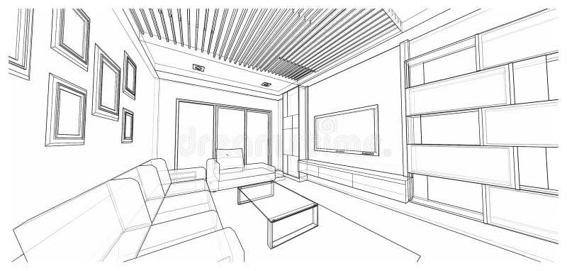 Interior design : living royalty free stock photo