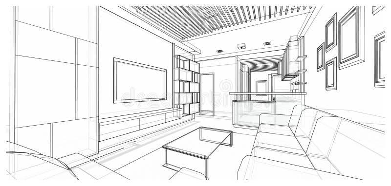 Interior design : living stock image