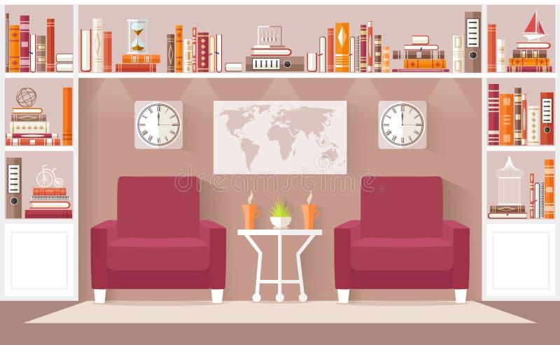 Interior Design Living Room Vector Illustration. Stock Vector ...