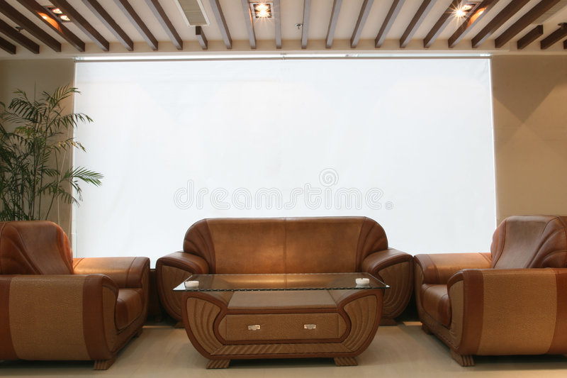 Download Interior Design Of Lounge With White Curtains Stock Image - Image: 1550807