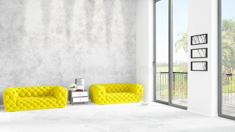 Interior design minimo di stile della camera da letto - La finestra della camera da letto ...