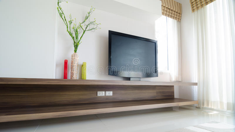 Interior design in modern home royalty free stock images