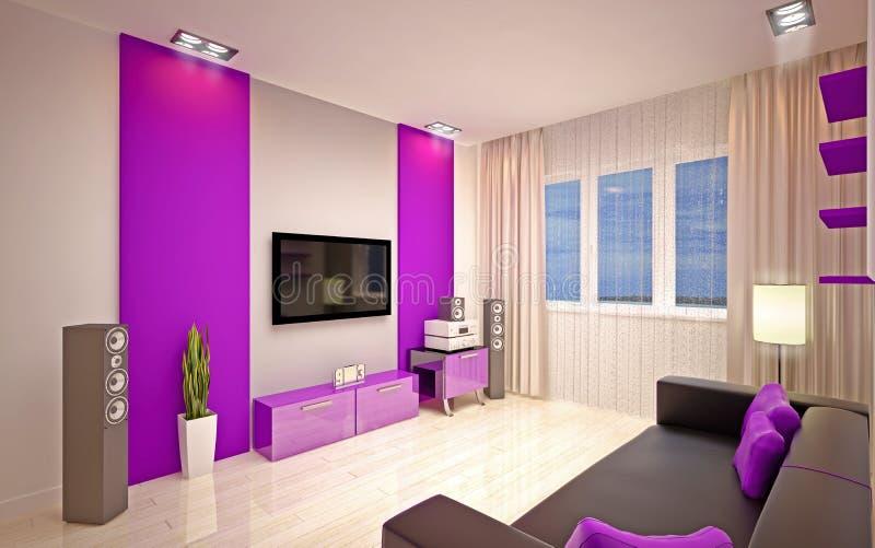 Interior Design. Modern Living Room Royalty Free Stock Photos