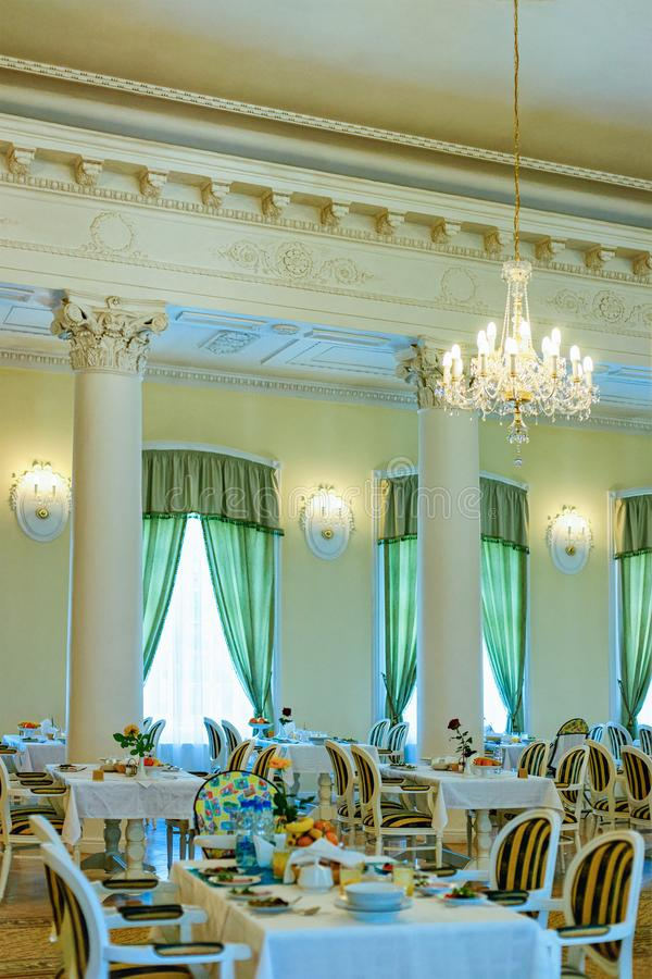 Interior design of modern restaurant cafe. Interior design of a modern restaurant or a cafe stock photos