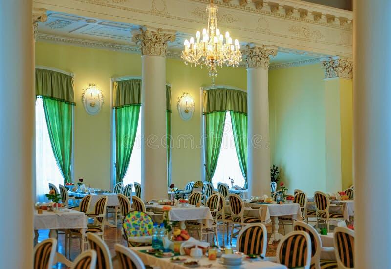 Interior design of modern restaurant or cafe. Interior design of a modern restaurant or cafe stock photography