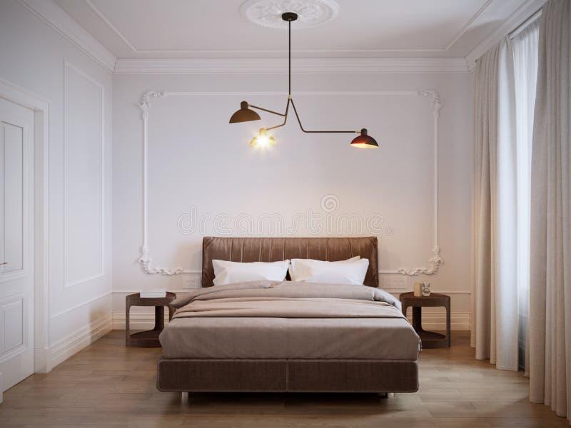 Interior Design Moderno Luminoso E Accogliente Della Camera Da Letto ...
