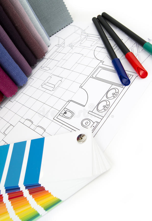Interior design project royalty free stock image