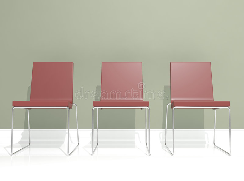 Interior Design, Red Chair Royalty Free Stock Photography