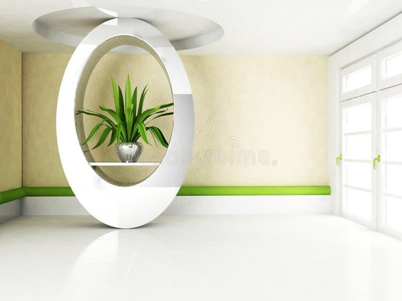 Interior design scene with a creative niche vector illustration