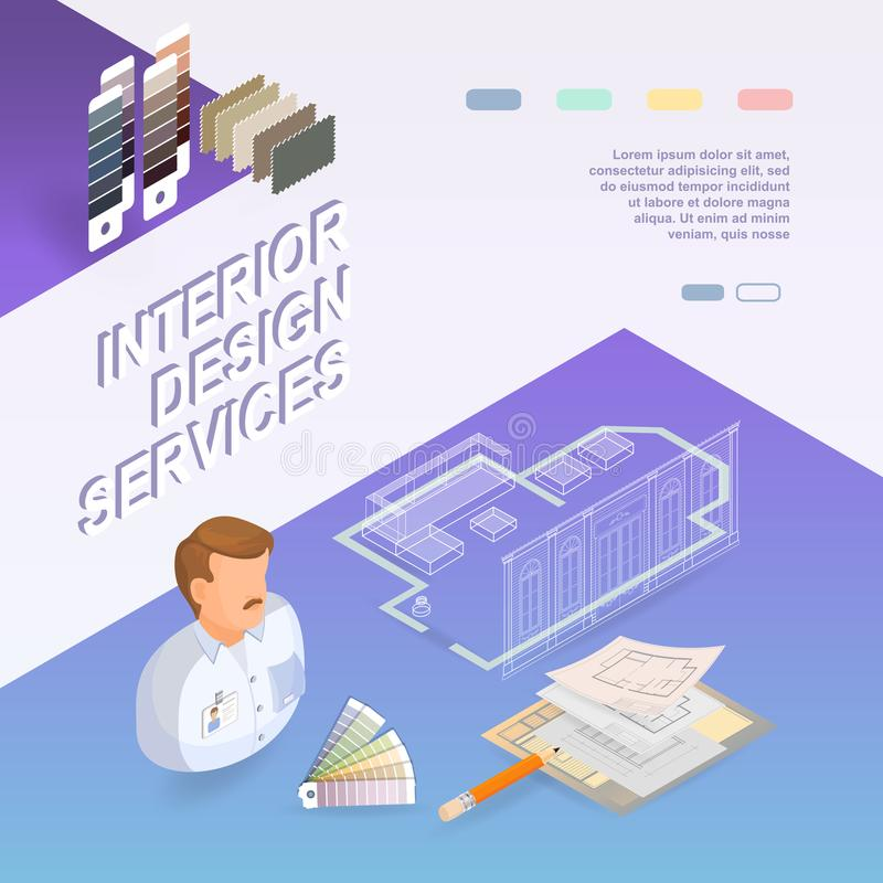 Interior design services isometric project and repairs concept download interior design services isometric project and repairs concept stock vector illustration of ccuart Image collections