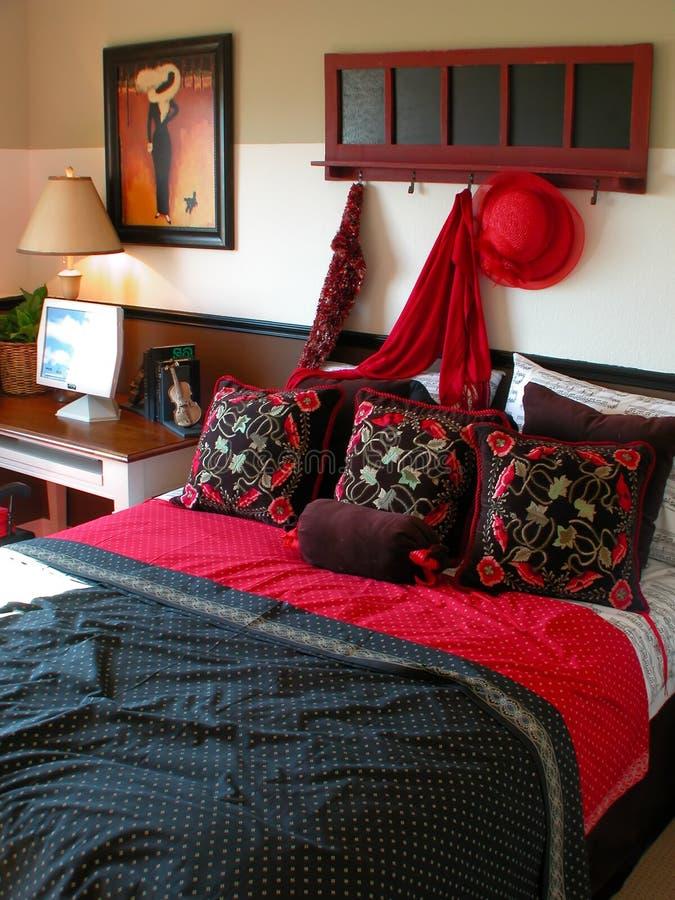 Interior design and show homes. Interior design - bedroom royalty free stock photos