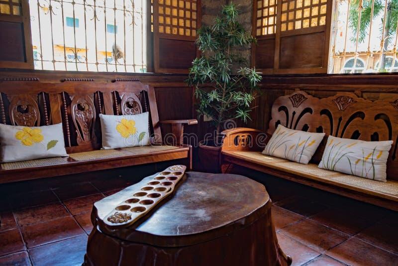 Interior design spagnolo di era immagine stock
