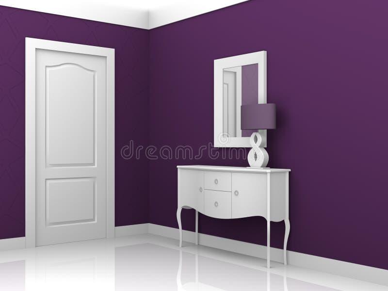 Interior design violet stock illustration