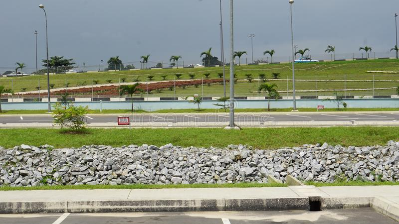 Port Harcourt pleasure park. Interior design, so warm and welcoming royalty free stock image