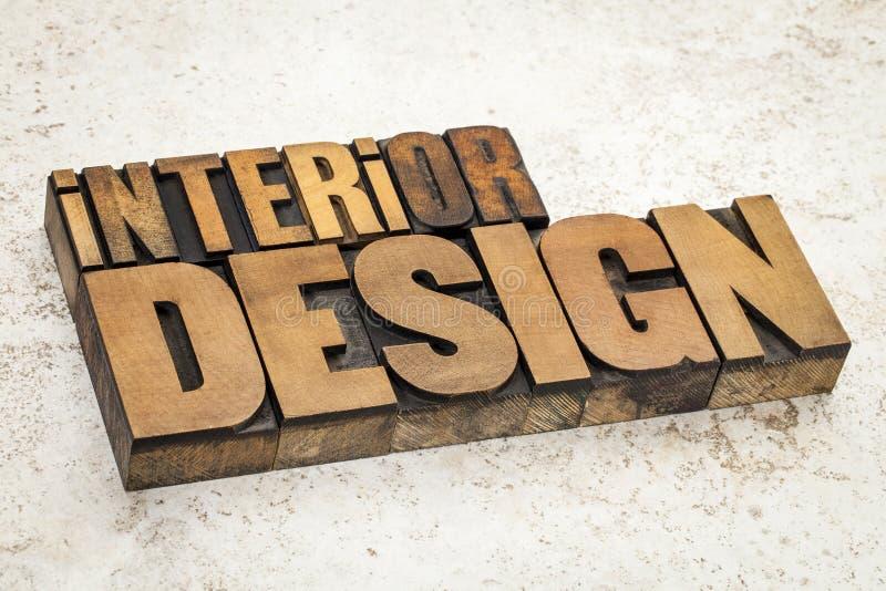 Interior design in wood type stock photo