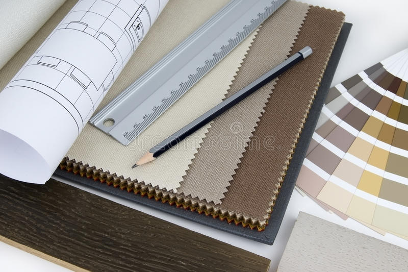 Download Interior design worktable stock photo. Image of fabric - 21654442