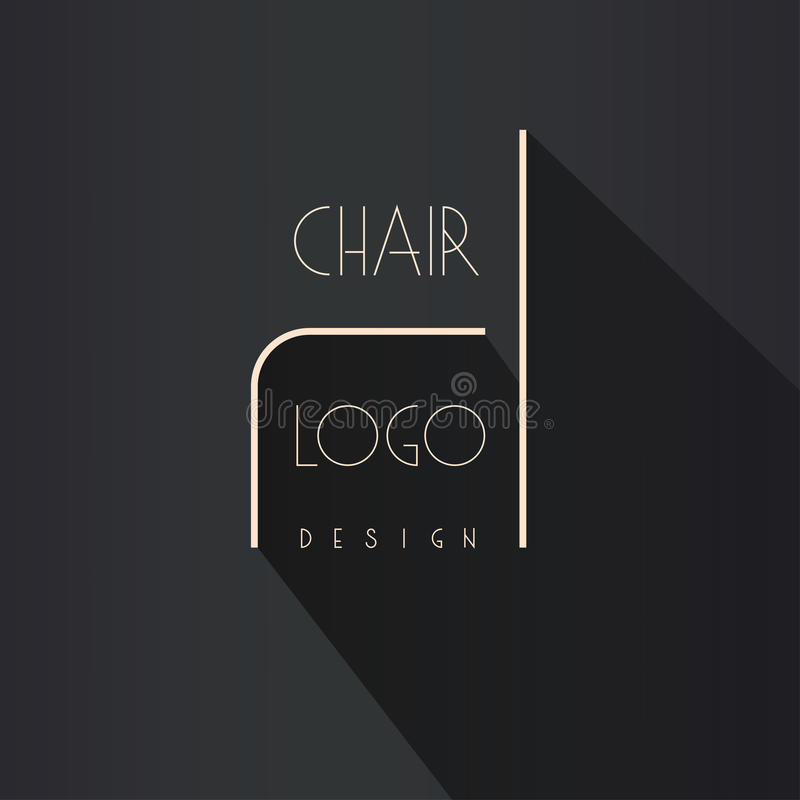 Interior Designer Brand Identity Chair Line Logo Business Card Template Included Stock Vector