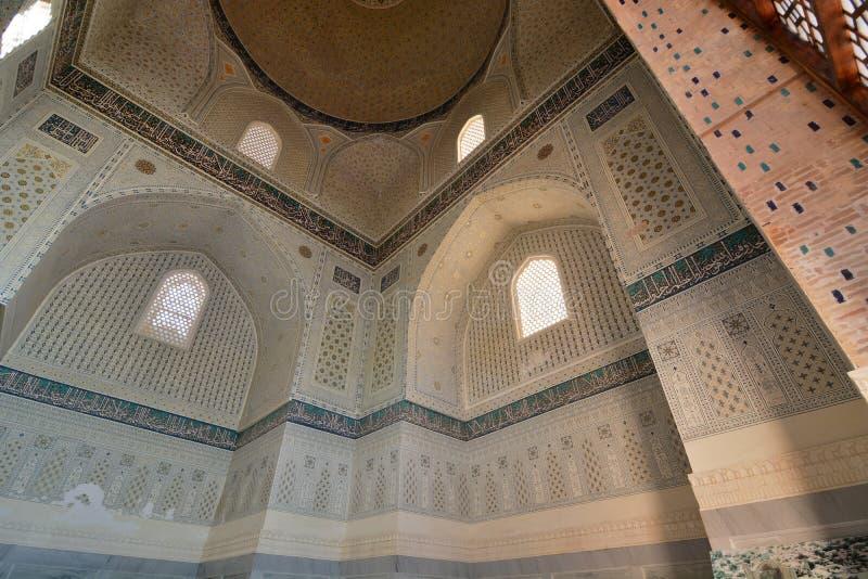 Interior detail. Bibi-Khanym mosque. Samarkand. Uzbekistan. Samarkand is a city in southeastern Uzbekistan, located on the ancient Silk road; Bibi-Khanym Mosque royalty free stock photo
