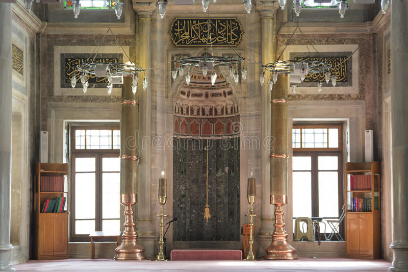 Interior Detail From Laleli Mosque, Istanbul, Turkey royalty free stock photos