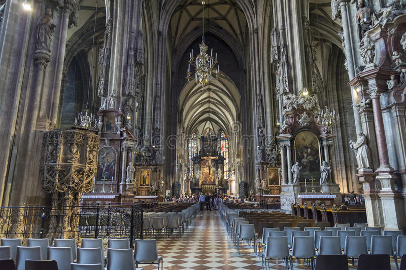 Interior detail from St. Stephen's Cathedral, Vienna, Austria stock photography