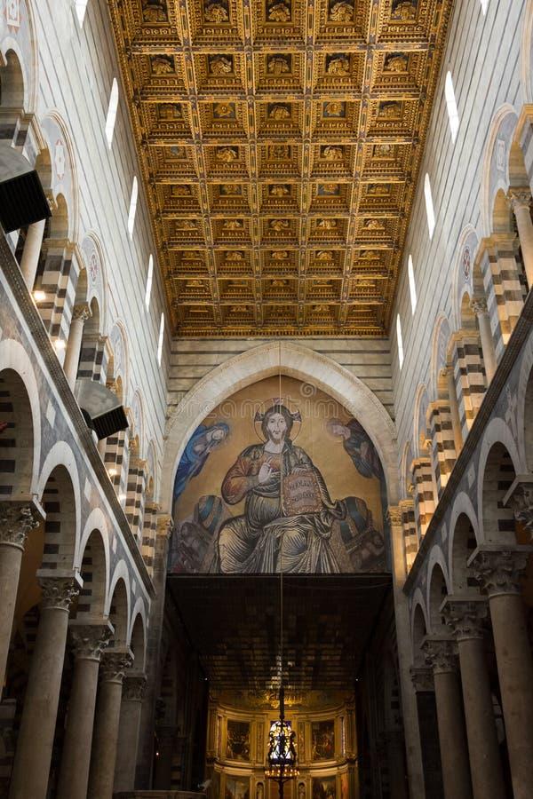 Interior details of Pisa Cathedral Cattedrale Metropolitana Primaziale di Santa Maria Assunta, a medieval Roman Catholic royalty free stock photos