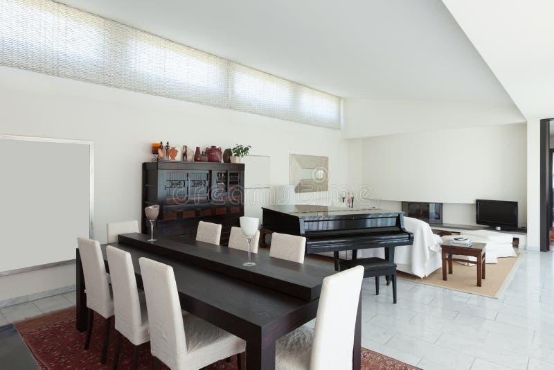 Interior, dining room royalty free stock photos