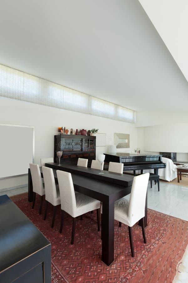 Interior, dining room royalty free stock photo