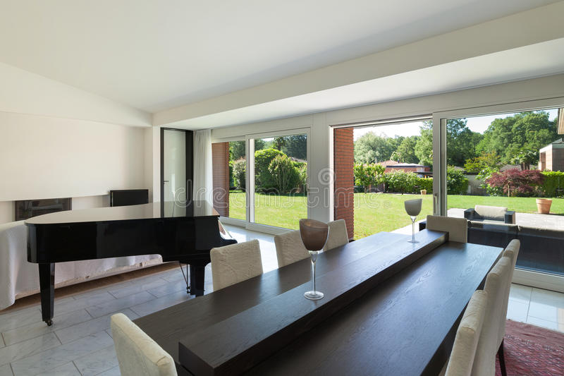 modern mansion dining room. Download Interior, Dining Room With Piano Stock Photo - Image Of Architecture, Dining: Modern Mansion